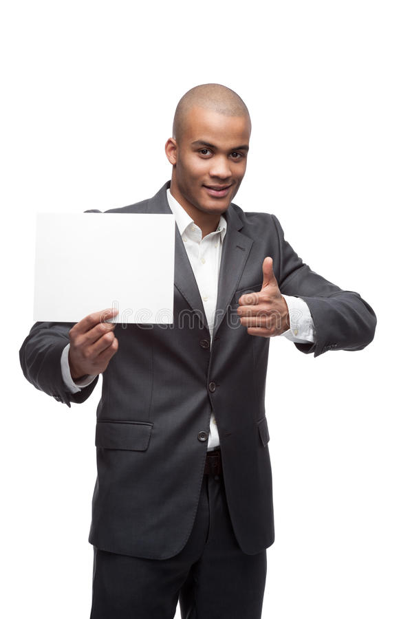 Черный бизнесмен стоковые изображения