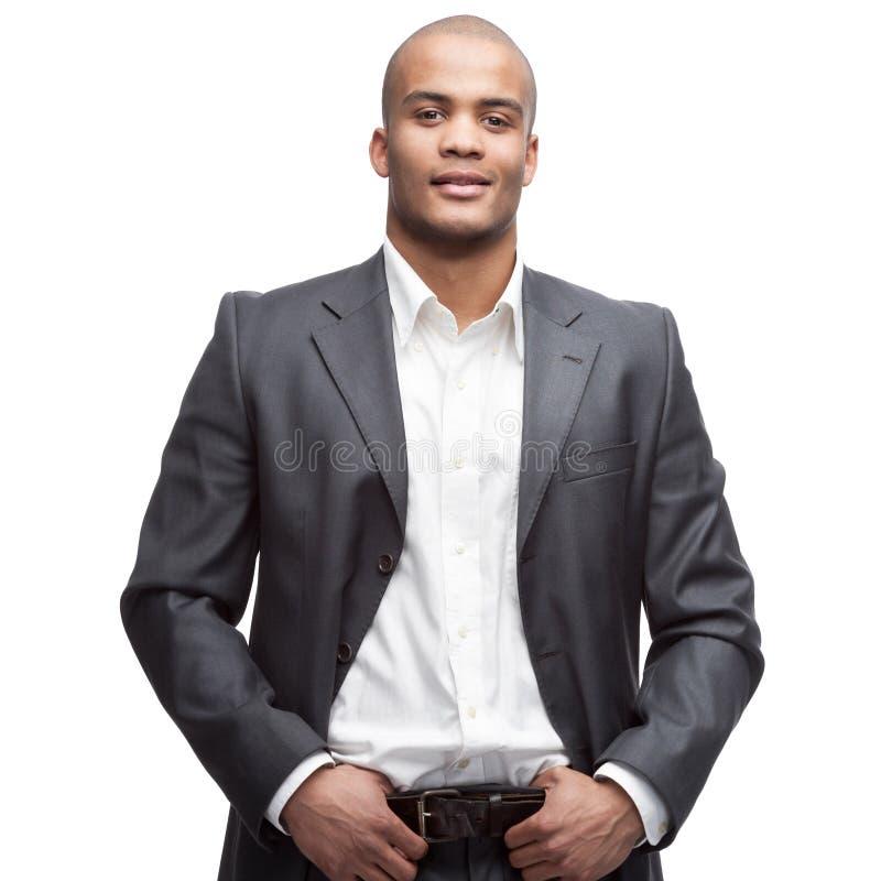 черный бизнесмен стоковое изображение