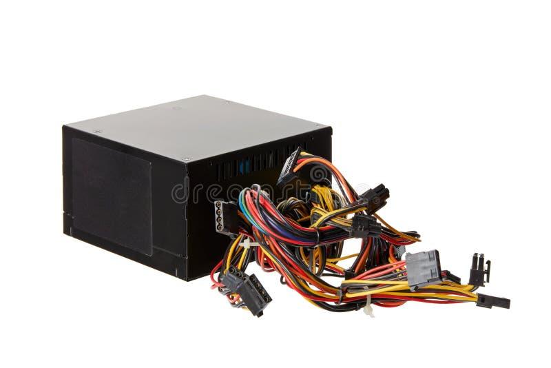 Черный блок psu электропитания компьютера стоковые изображения rf