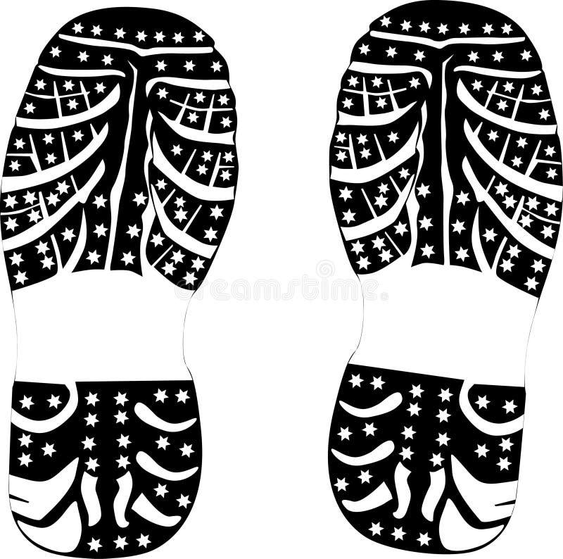 черный ботинок печати бесплатная иллюстрация