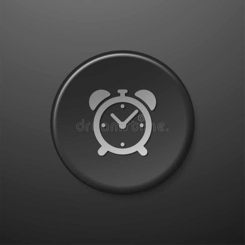 Черный будильник значка сети бесплатная иллюстрация