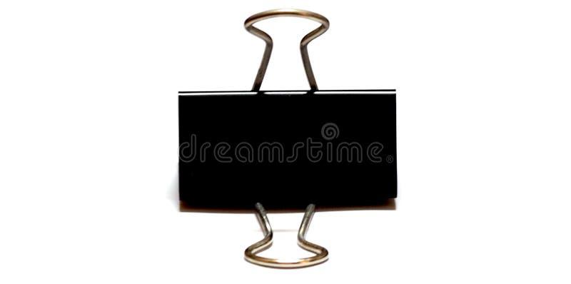 Черный бумажный зажим стоковое фото rf