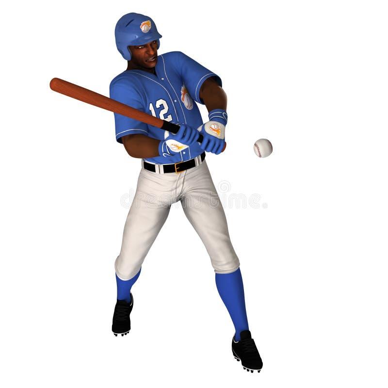 Черный бэттер бейсбола стоковое фото rf