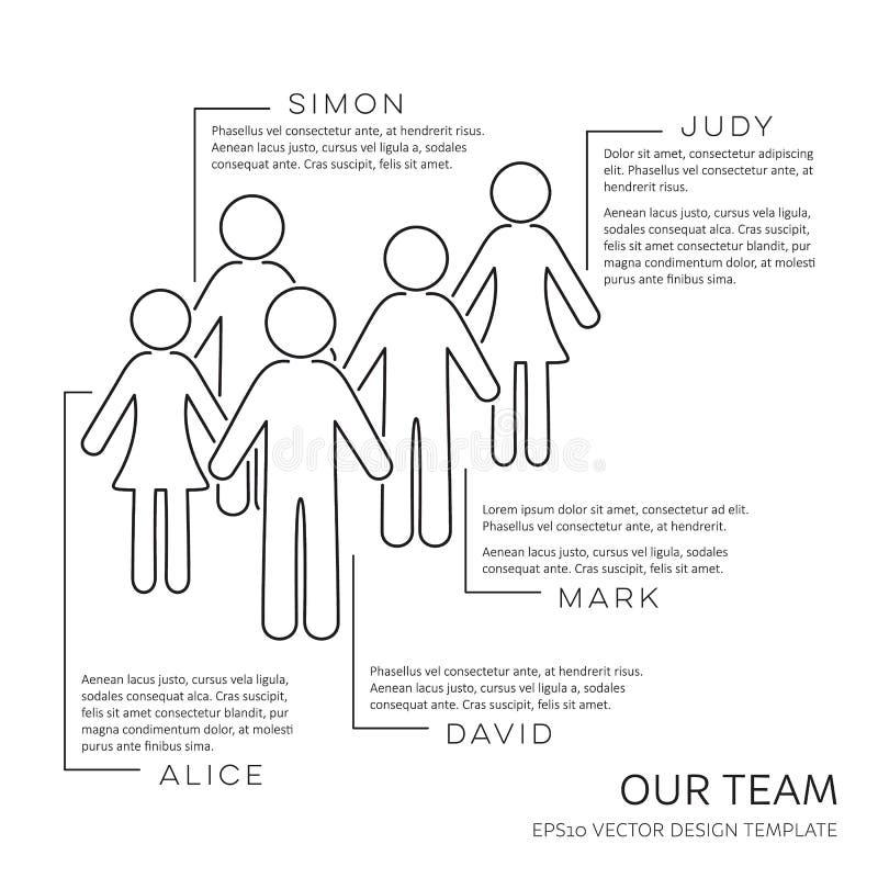 Черный вектор наш шаблон дизайна плана команды бесплатная иллюстрация
