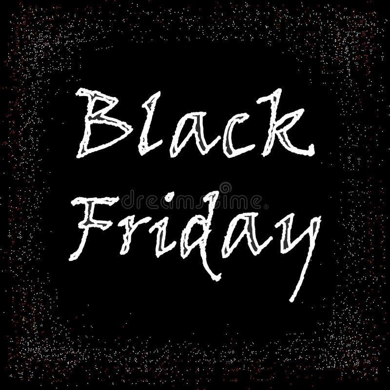 Черный вектор продажи пятницы большой бесплатная иллюстрация