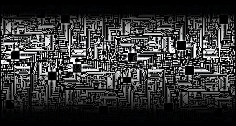 черный вектор серебра цепи доски бесплатная иллюстрация