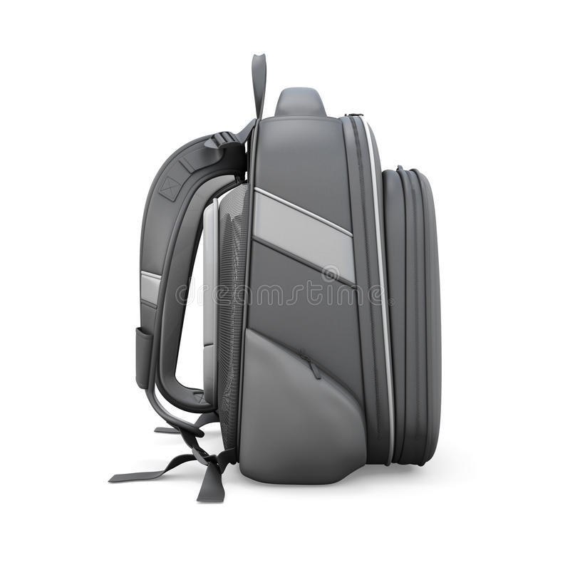 Черный взгляд со стороны рюкзака иллюстрация вектора