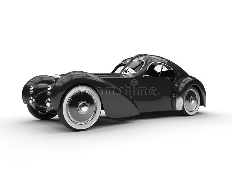 Черный винтажный автомобиль концепции бесплатная иллюстрация