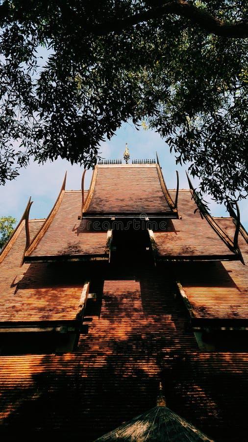Черный висок на севере Таиланда стоковые изображения rf