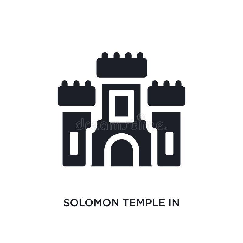 черный висок solomon в Иерусалиме изолировал значок вектора простая иллюстрация элемента от значков вектора концепции вероисповед иллюстрация вектора