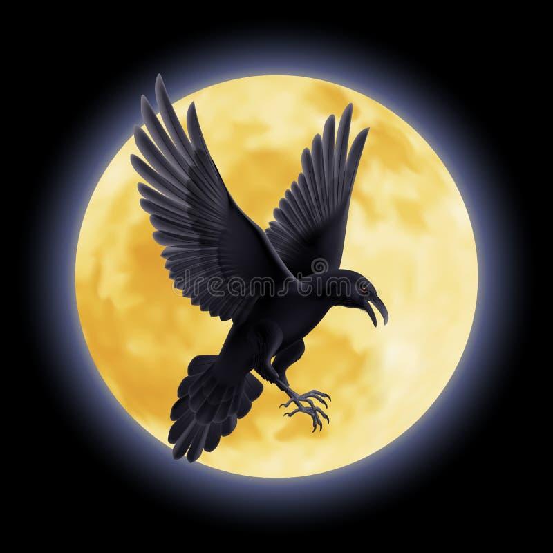 черный ворон иллюстрация вектора