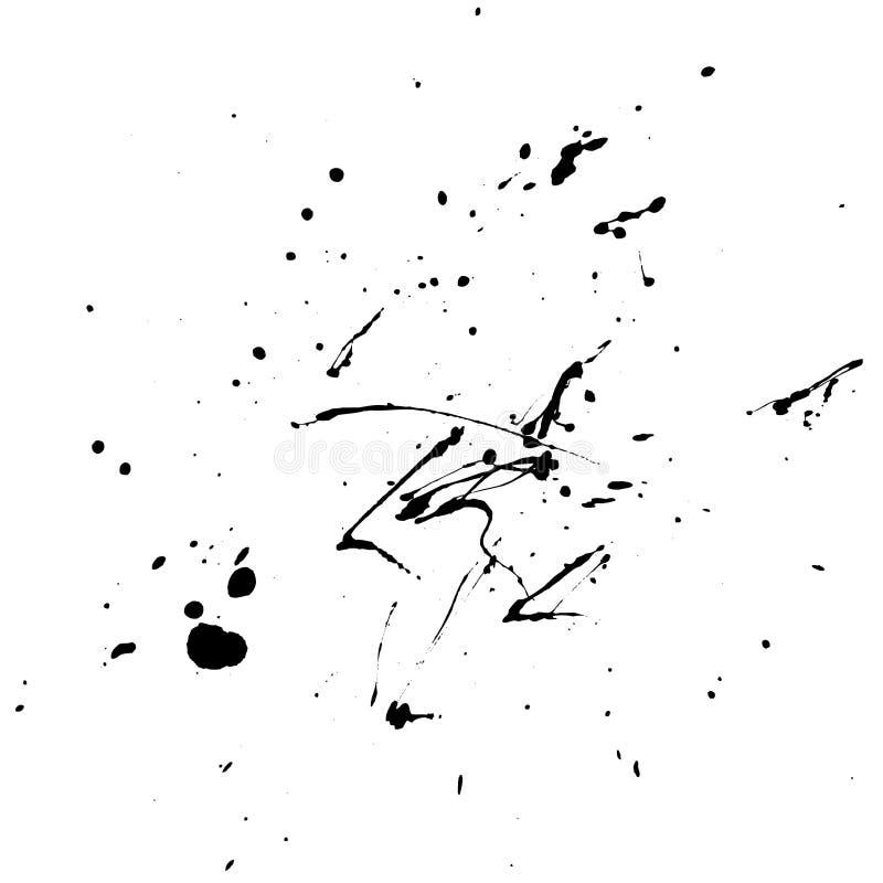черный выплеск иллюстрация вектора