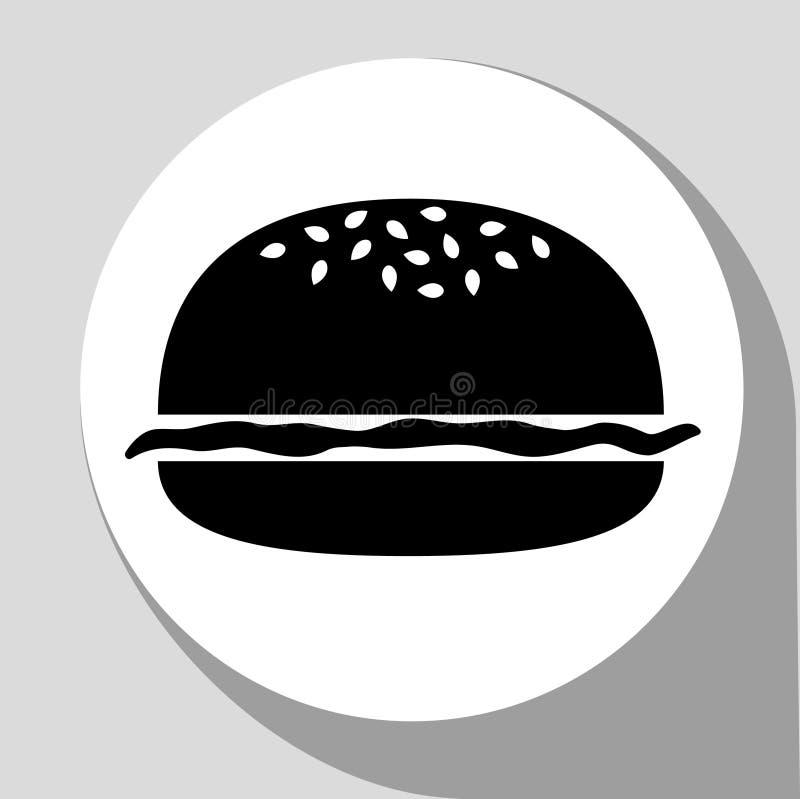 Черный гамбургер стоковое изображение rf
