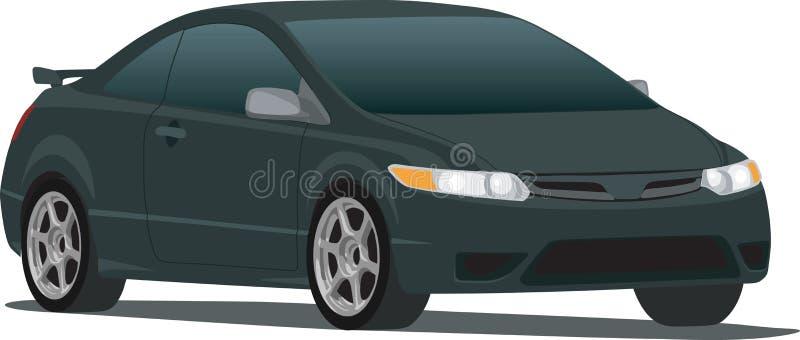 черный гражданский coupe бесплатная иллюстрация