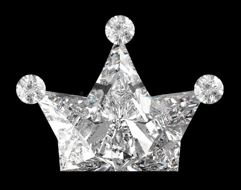черный диамант кроны над форменным бесплатная иллюстрация