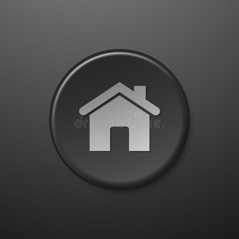 Черный дом значка сети бесплатная иллюстрация