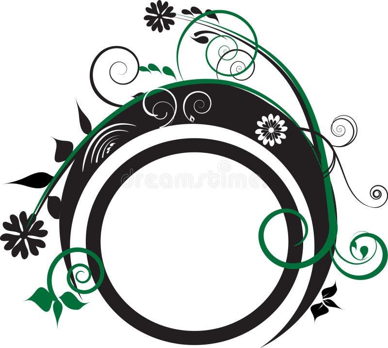 черный зеленый цвет украшения иллюстрация штока