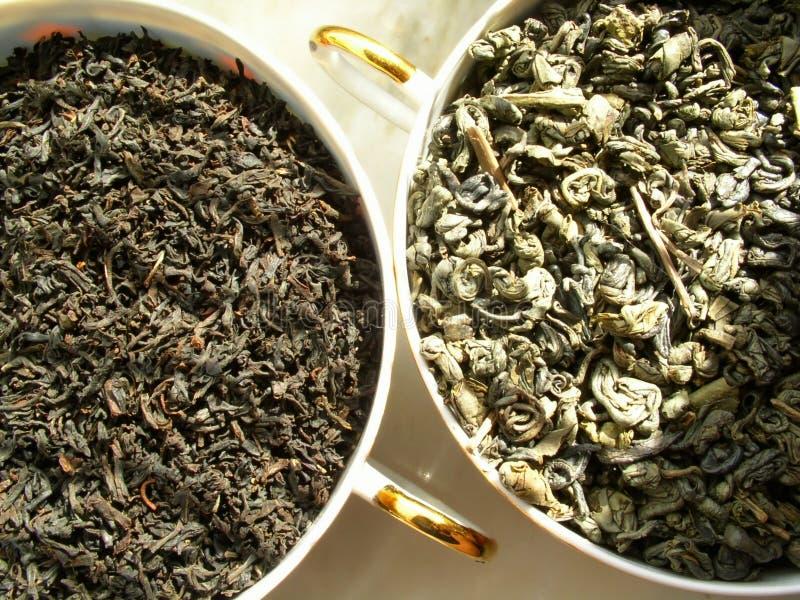 черный зеленый чай стоковые изображения