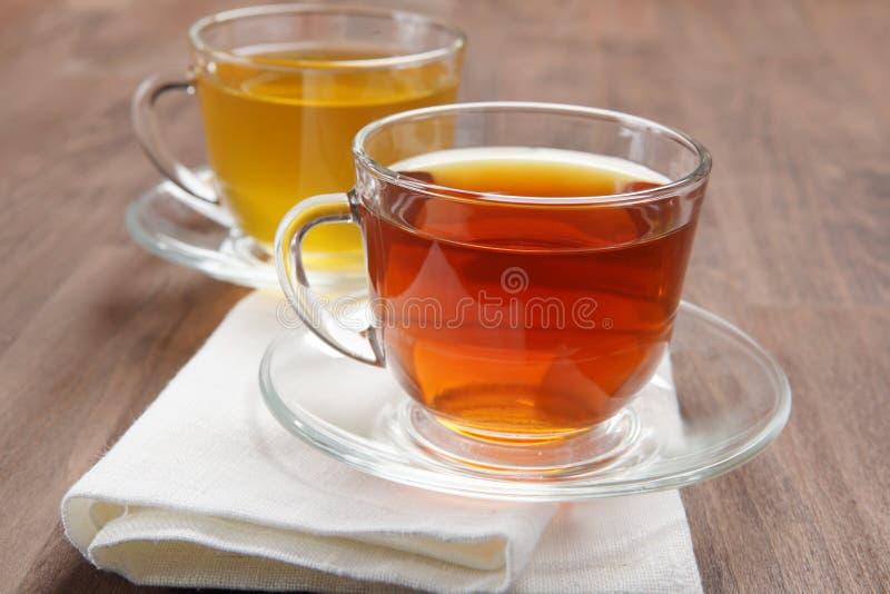 черный зеленый чай стоковая фотография rf