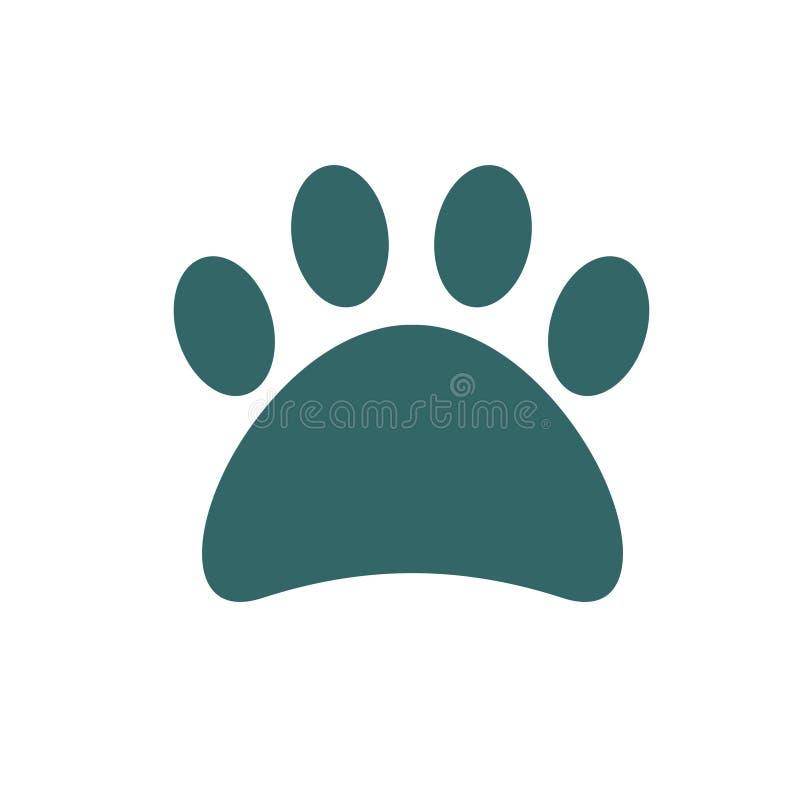 Черный значок любимца печати лапки, собака печати лапки большая стоковое изображение rf