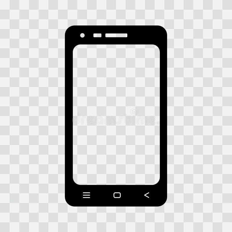 Черный значок мобильного телефона r иллюстрация штока