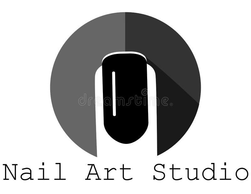 Черный значок ногтя иллюстрация штока