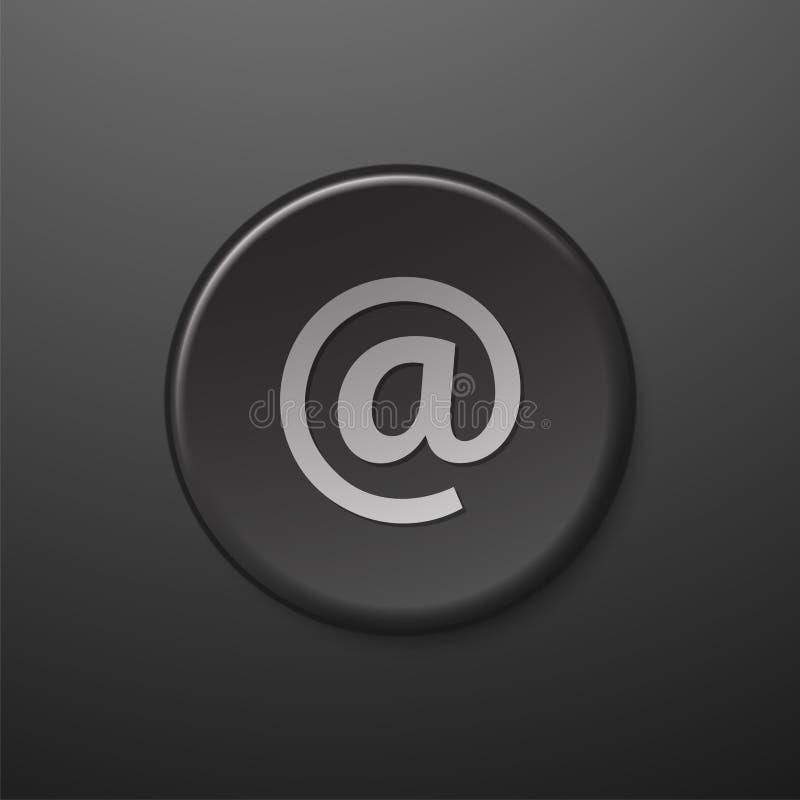 Черный значок сети на электронной почте знака иллюстрация штока