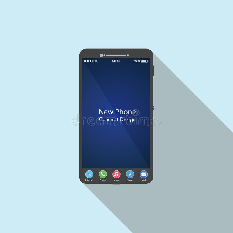 Черный значок смартфона сенсорного экрана бесплатная иллюстрация