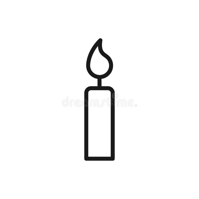 Черный изолированный значок плана свечи на белой предпосылке Линия значок света бесплатная иллюстрация