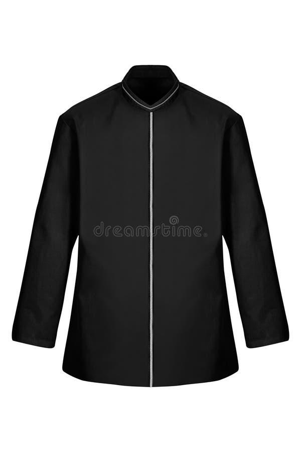 Черный изолированный купальный халат стоковые фотографии rf