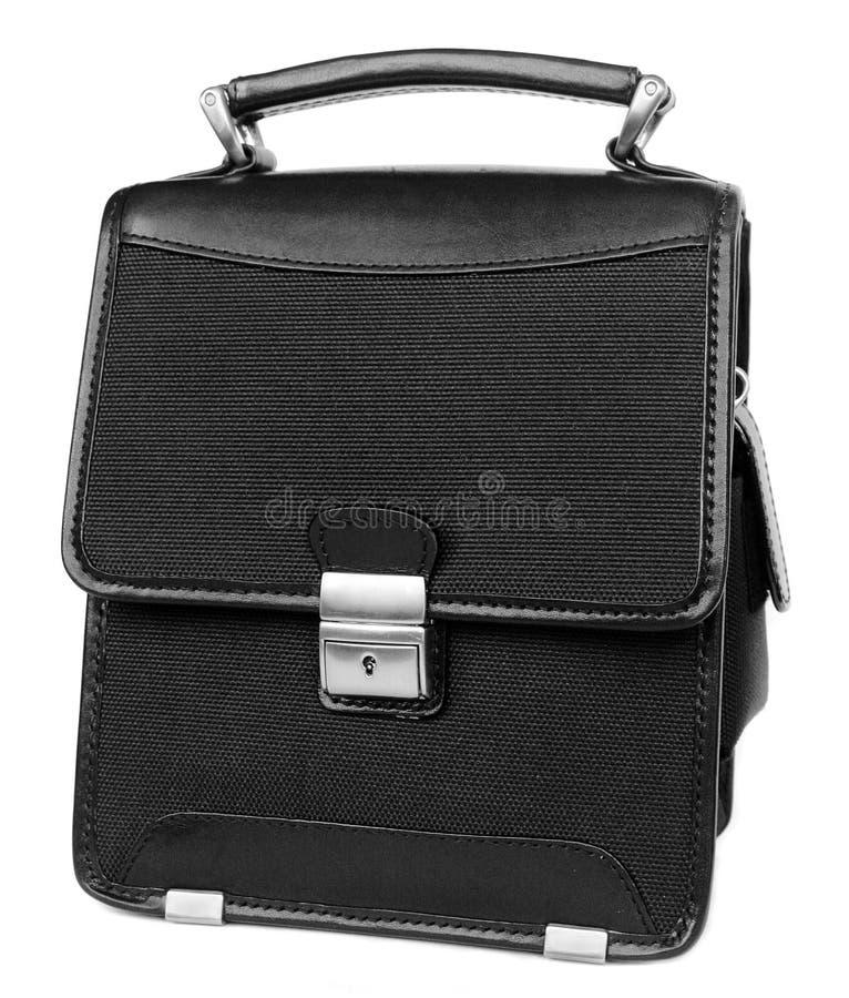 черный изолированный портфель стоковые изображения rf