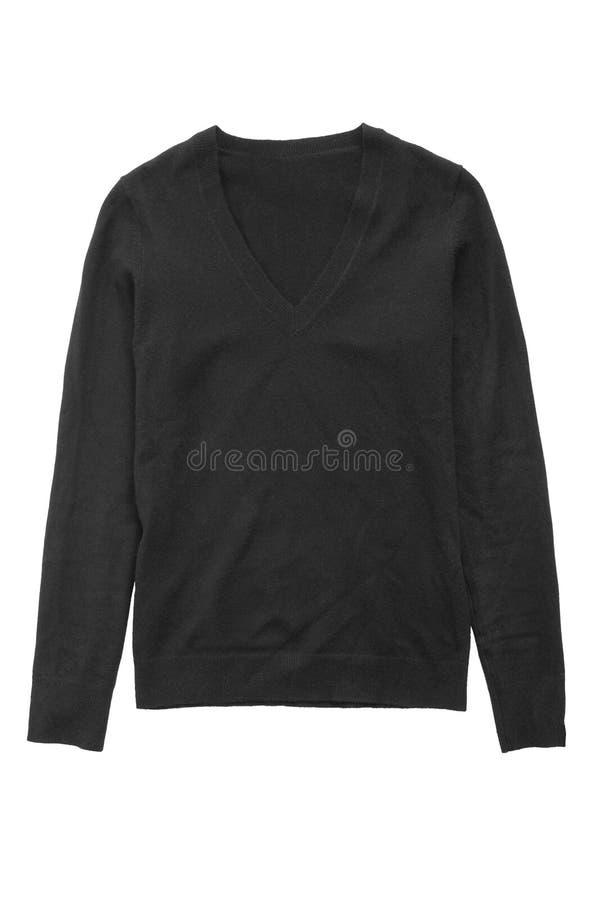 Черный изолированный свитер стоковое фото