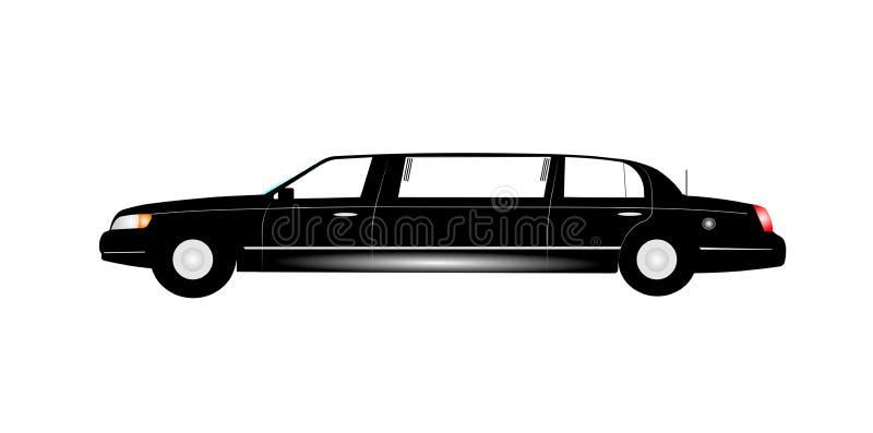 Черный лимузин простирания иллюстрация вектора