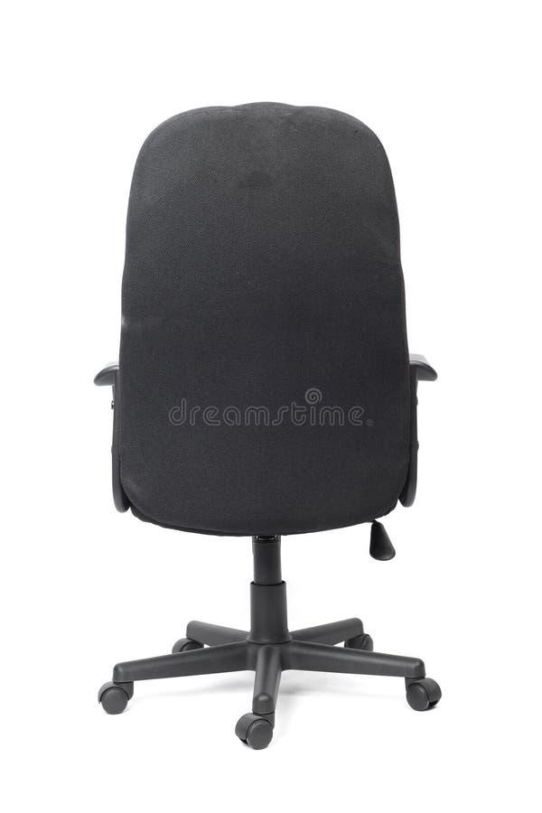 Черный используемый стул офиса ткани стоковые изображения rf