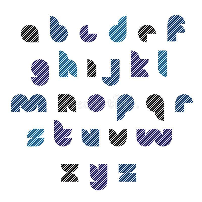 Черный и голубой необыкновенный округленный typescript с линиями бесплатная иллюстрация