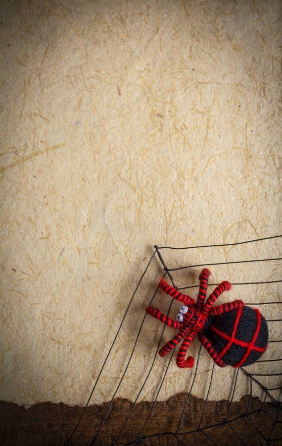 Черный и красный паук нашивки стоковое изображение rf