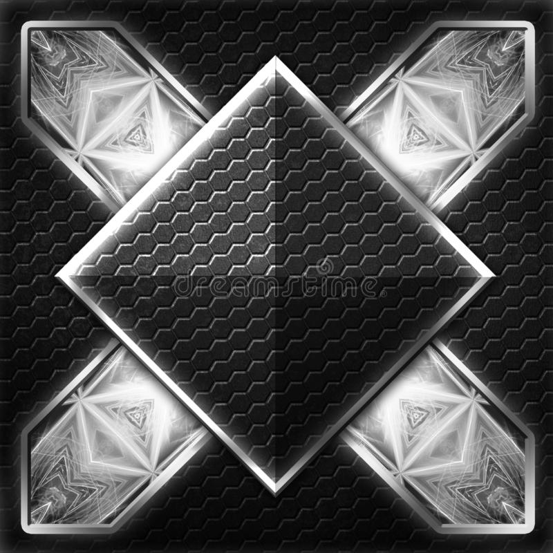 Черный кадр шестиугольника x на белом свете бесплатная иллюстрация