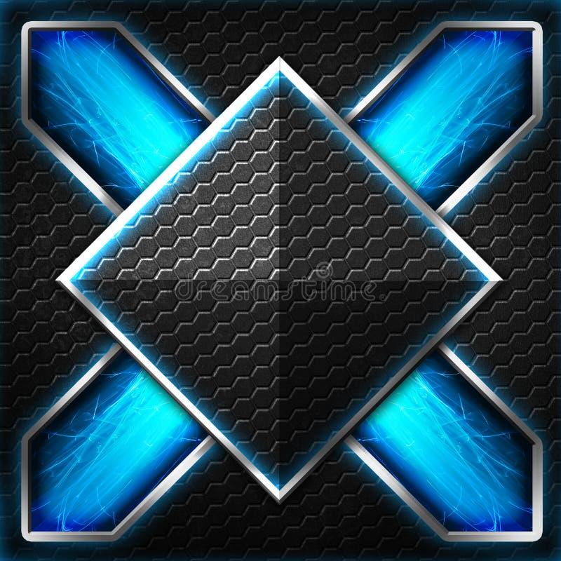 Черный кадр шестиугольника x на сини и белом свете бесплатная иллюстрация