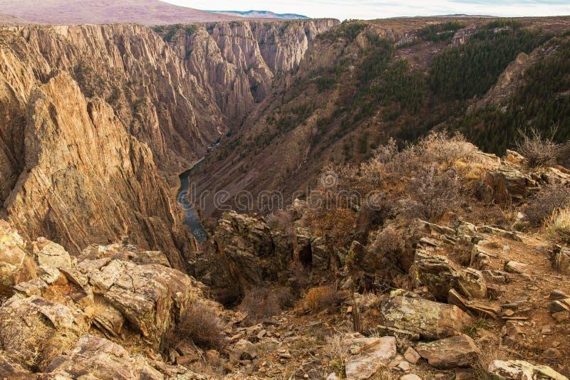 Черный каньон Gunnison стоковые фотографии rf