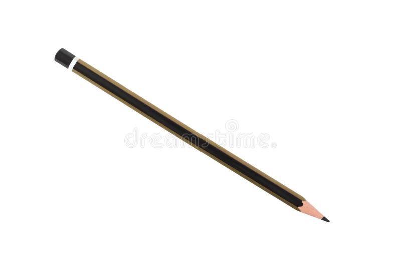 Черный карандаш на белизне стоковые изображения