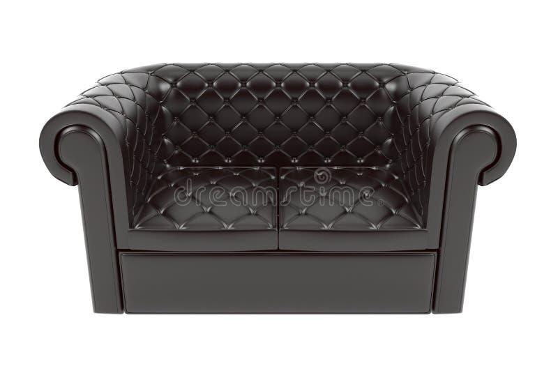 Черный кожаный диван стоковое фото rf