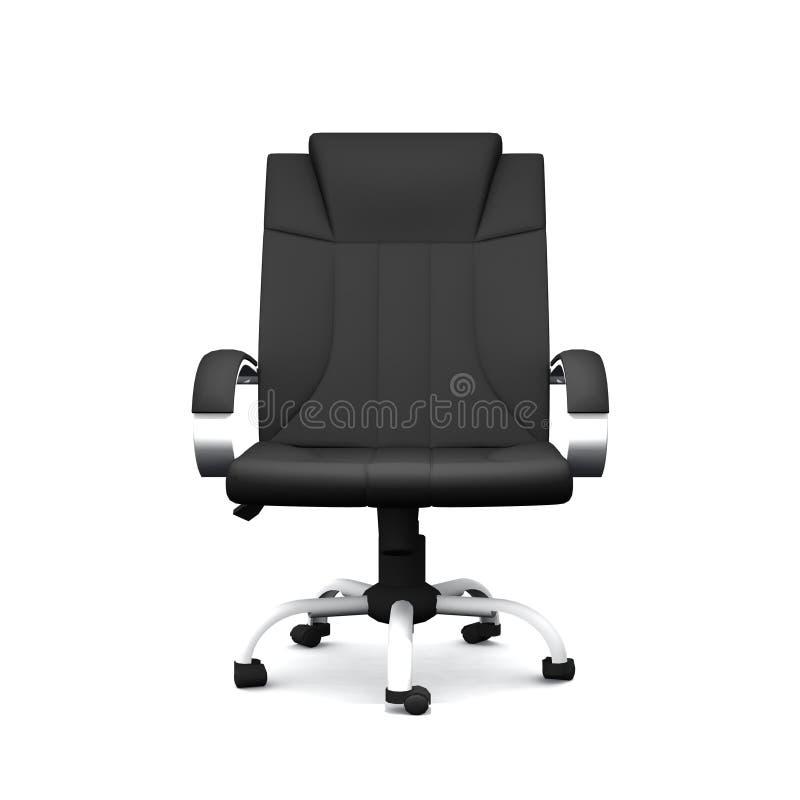 Черный кожаный стул офиса иллюстрация штока