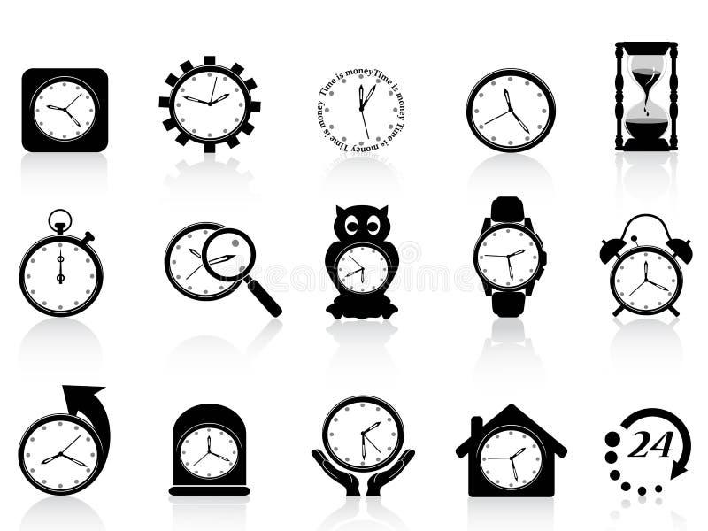 черный комплект иконы часов бесплатная иллюстрация