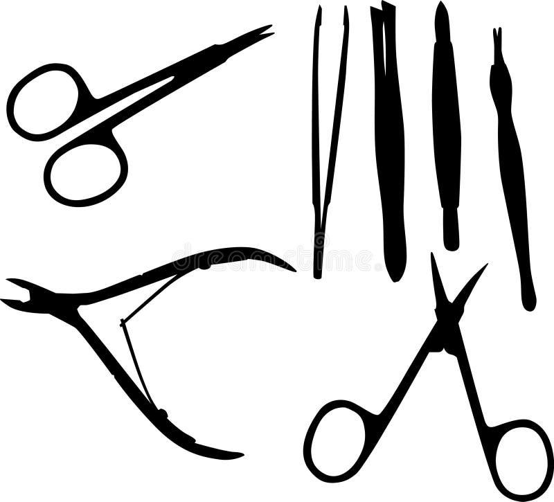 черный комплект manicure бесплатная иллюстрация