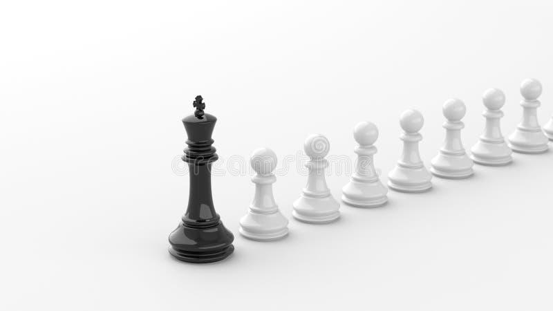 Черный король шахмат иллюстрация штока