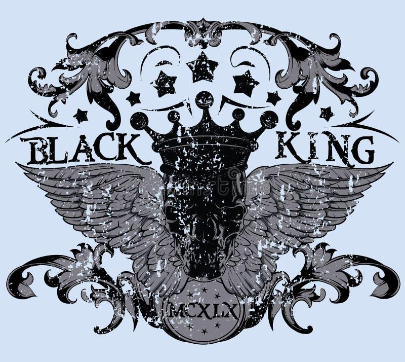 Черный король иллюстрация штока