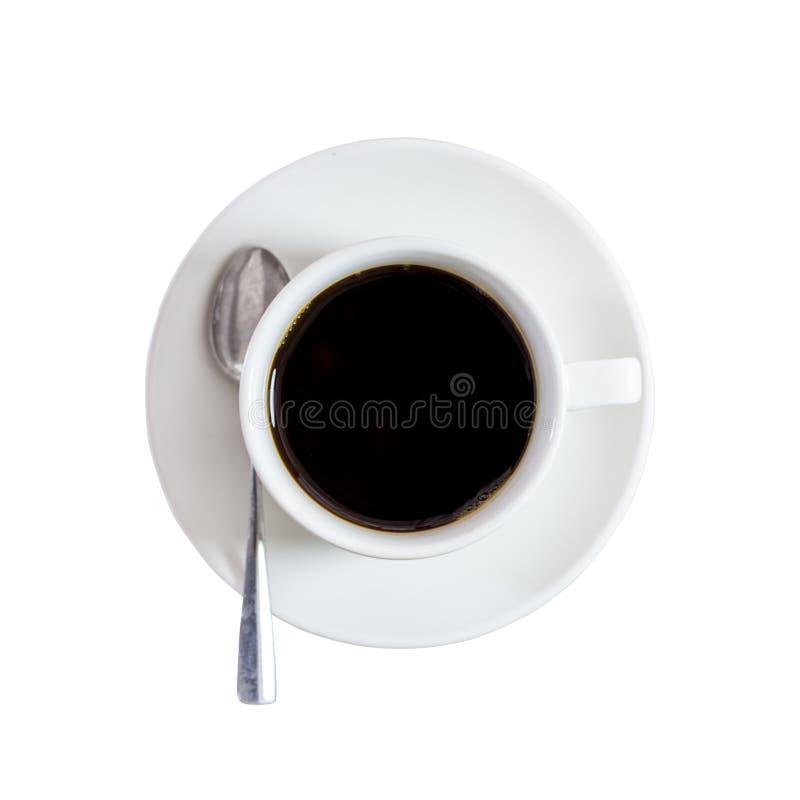Черный кофе на изолированной белизне стоковая фотография rf