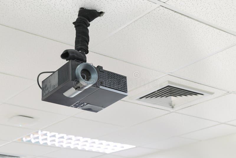 Черный кодоскоп на потолке внутри помещения стоковые изображения rf