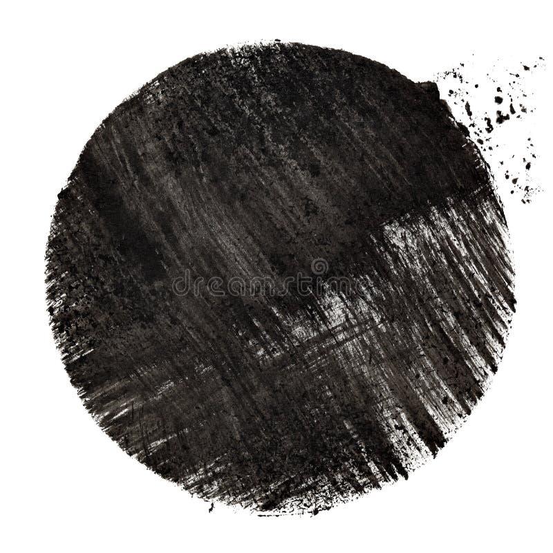 Черный круг с ходами иллюстрация вектора