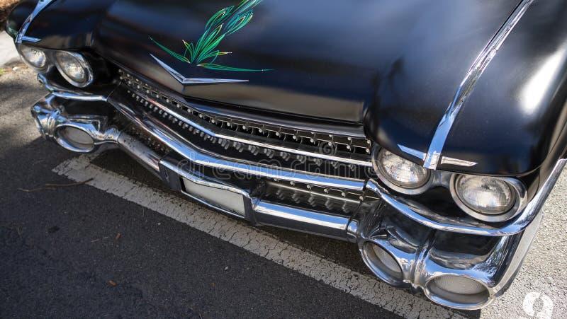 Черный классицистический автомобиль стоковая фотография rf